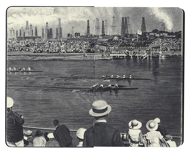 The Area's Oil Richness Is Revealed (1932 Olympic Games Los Angeles)