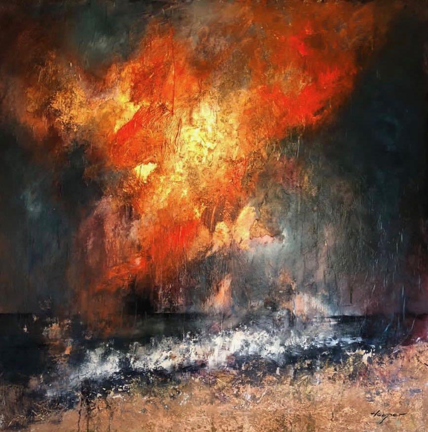 Daniel Hooper, Solent Sky (fire), 2020