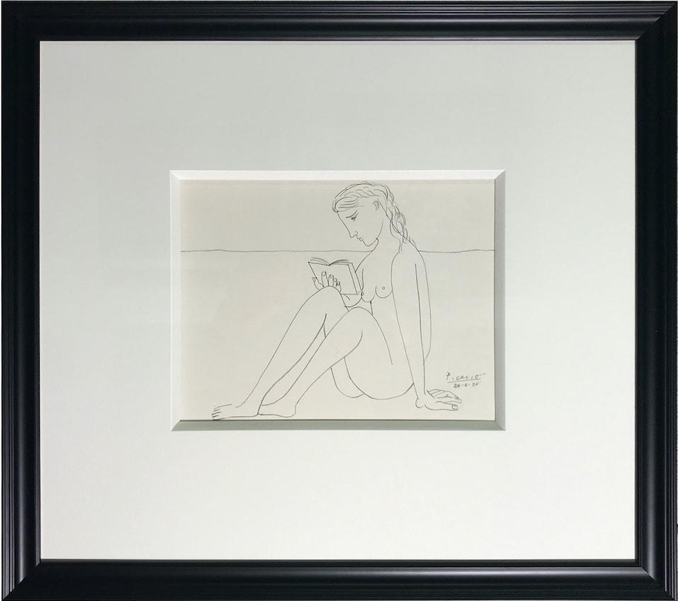 John Myatt, Reading Nude - Original