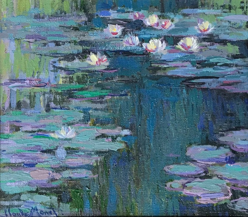 John Myatt, Study for Waterlillies - Original, 2008