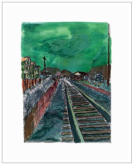 Bob Dylan, Train Tracks (green) , 2008
