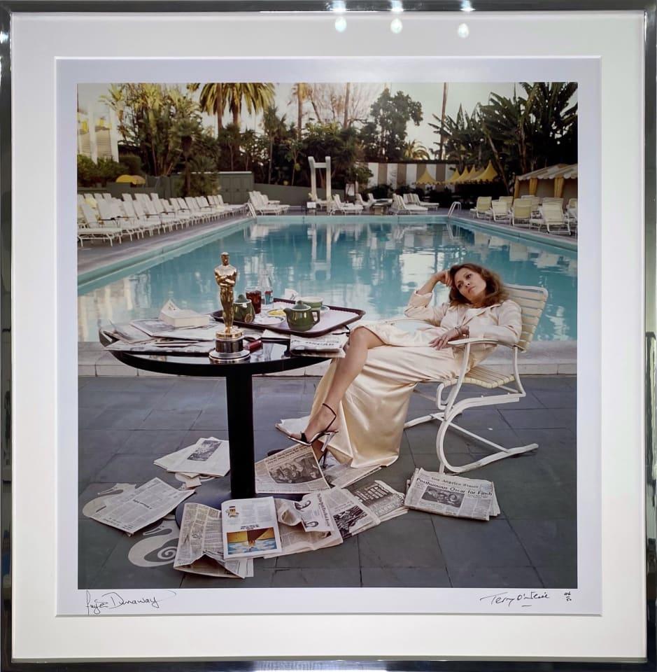 Terry O'Neill, Faye Dunaway (co-signed), 1977