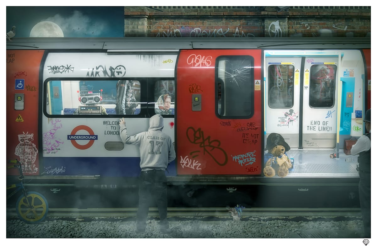 JJ Adams, London Tube, 2017