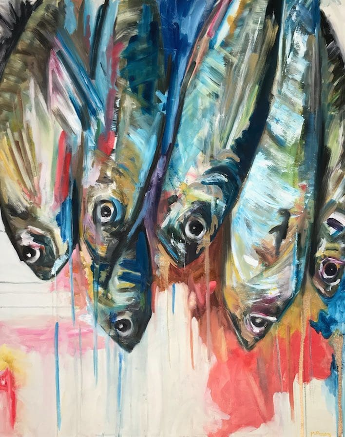 Michelle Parsons, Hanging Fish, 2018