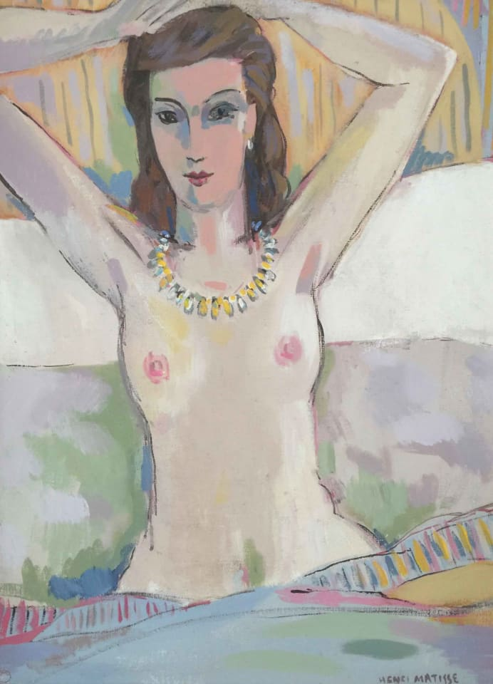 John Myatt, Nude with Raised Arms - original, 2007