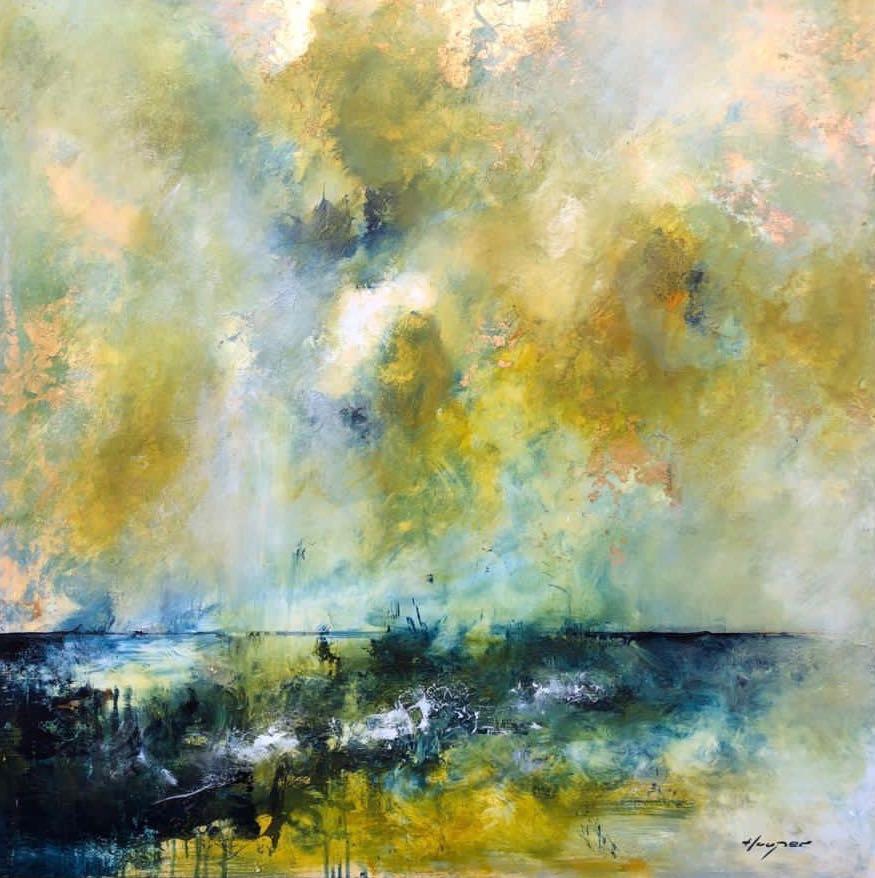 Daniel Hooper, Solent Sky (yellow), 2020
