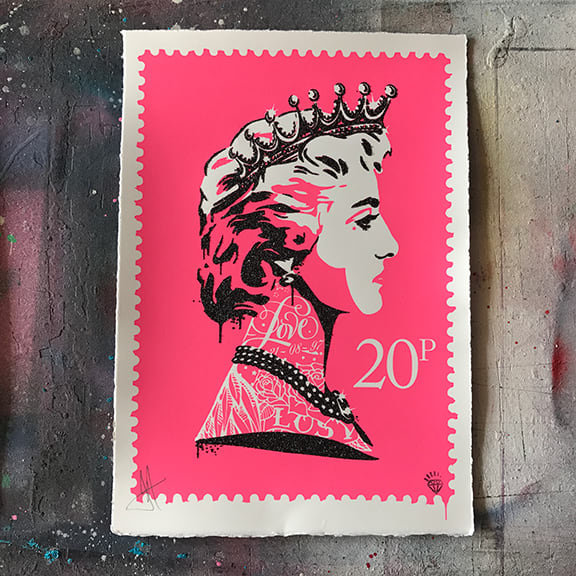 JJ Adams, Princess Diana Stamp (pink), 2017