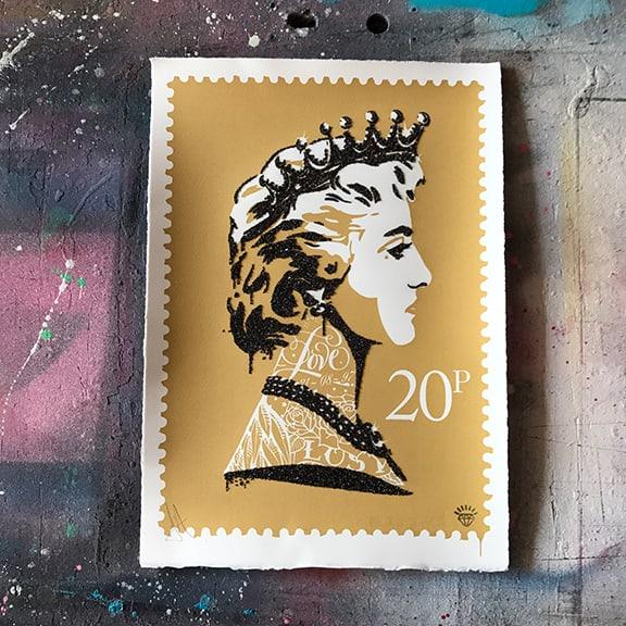 JJ Adams, Princess Diana Stamp (gold), 2017