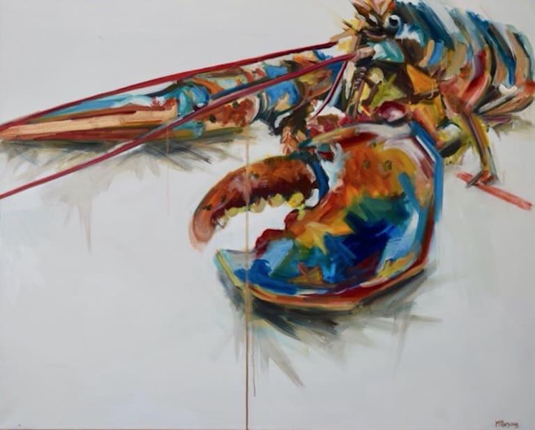 Michelle Parsons, Golden Lobster II, 2019