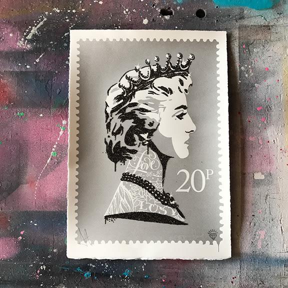 JJ Adams, Princess Diana Stamp (silver), 2017