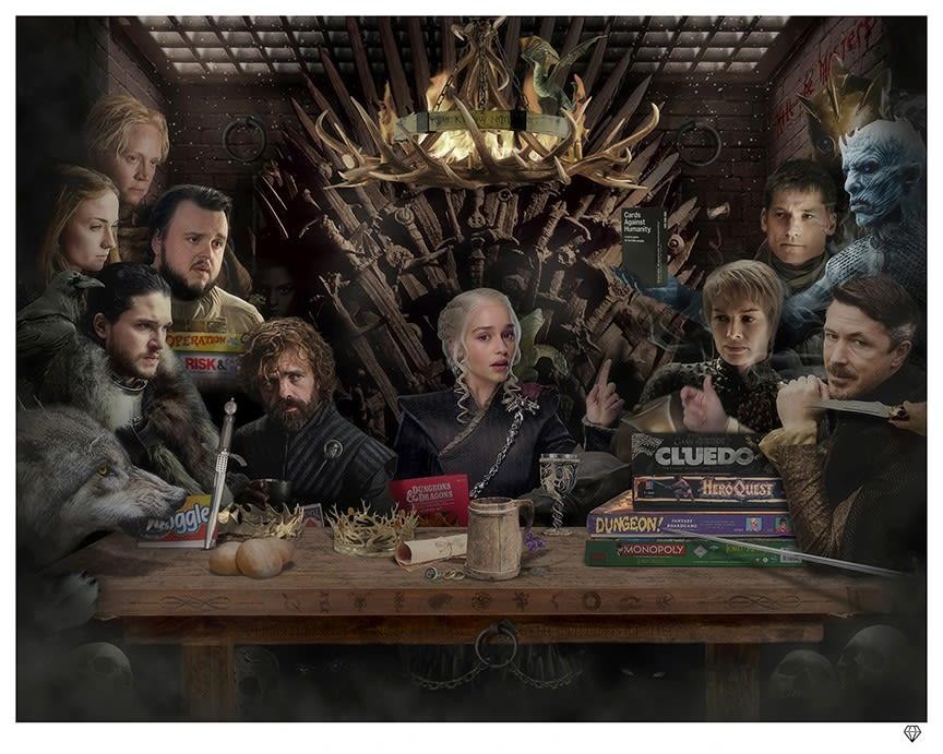 JJ Adams, Board-Game of Thrones - Black & White - SALE