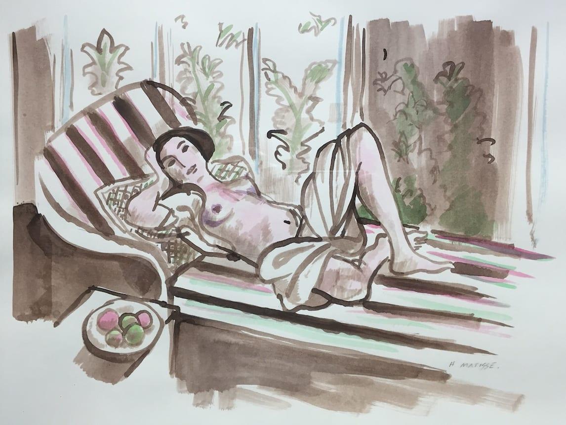 John Myatt, Matisse Drawing IV - Original