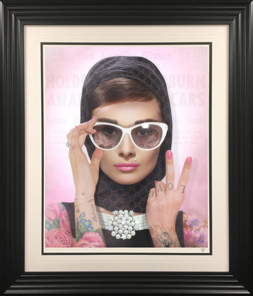 JJ Adams, Peace, Love & Audrey (Colour Tattoo), 2020