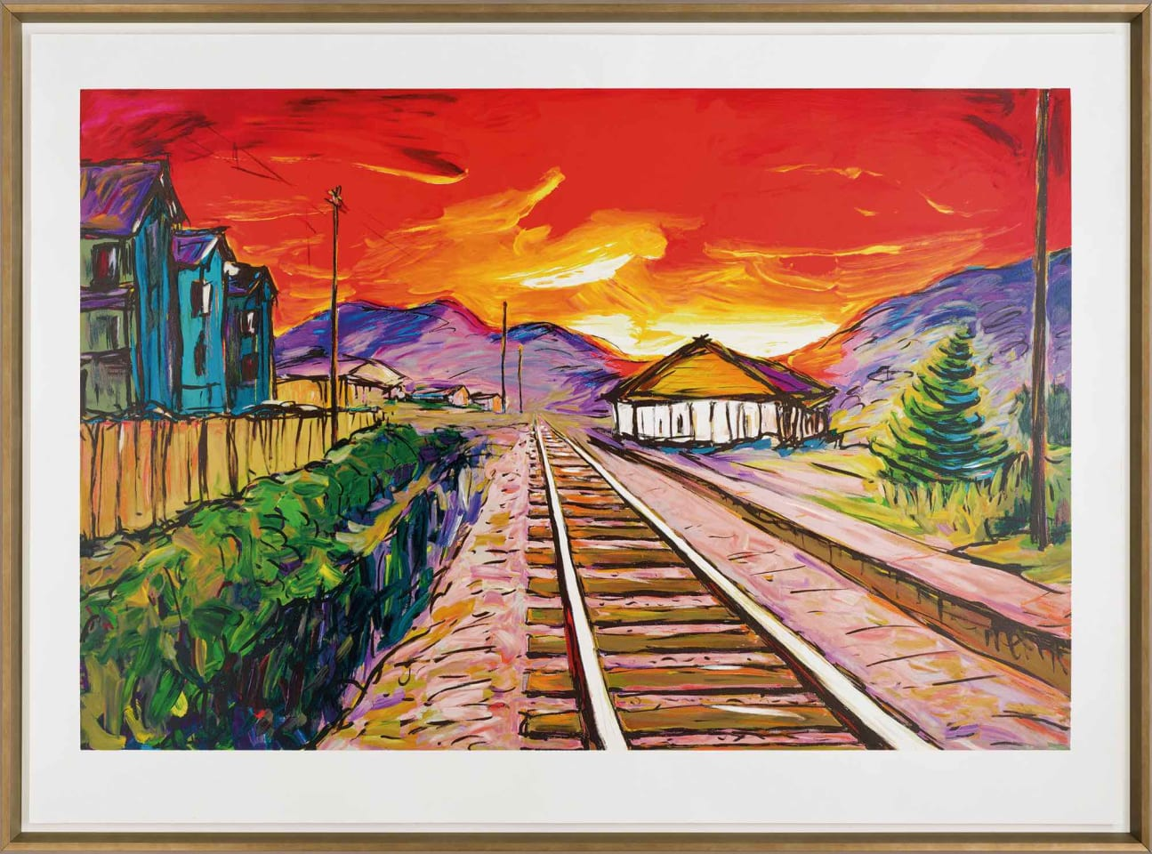 Bob Dylan, Train Tracks (silkscreen), 2019