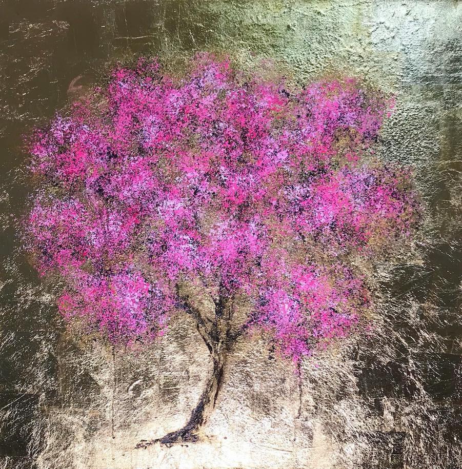 Daniel Hooper, Blossom (24K gold leaf), 2018