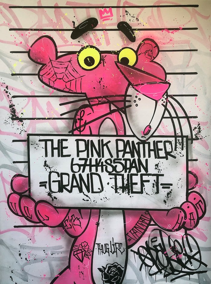 Opake One, The Pink Panther Mugshot, 2020