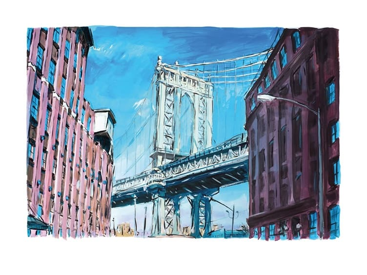 Bob Dylan, Manhattan Bridge, Downtown New York - POA, 2016