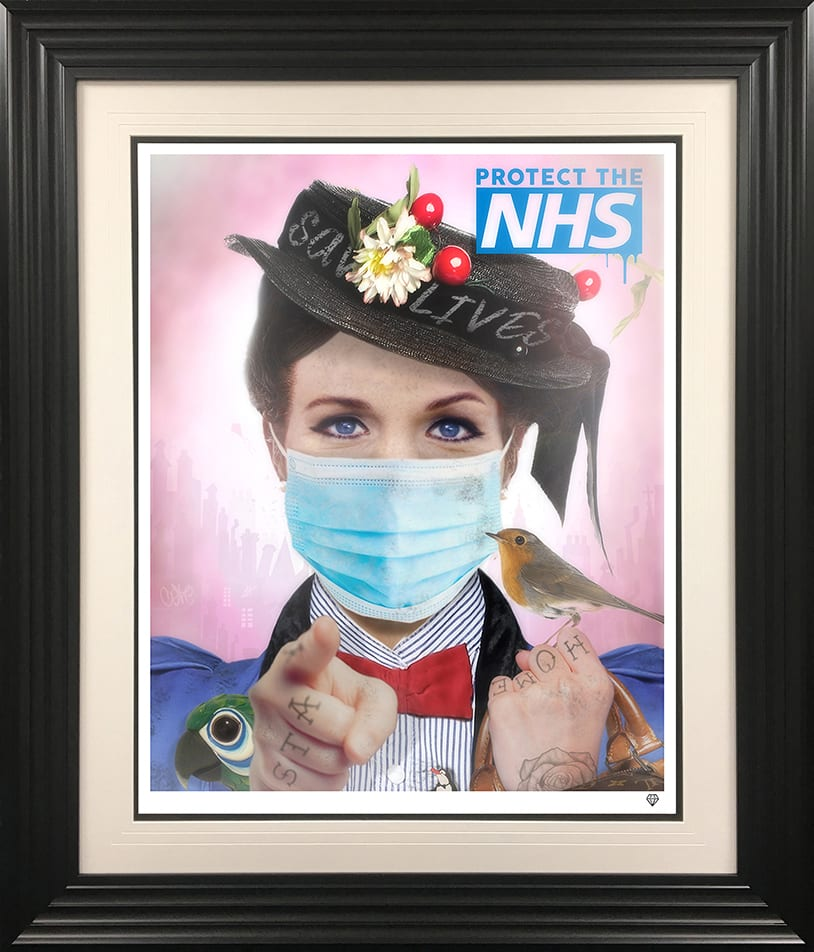 JJ Adams, Stay Home Lives (Colour Mary Poppins Exclsuive NHS Tattoo - Large, 2020