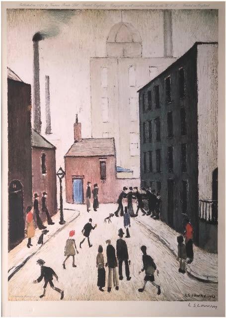 LS Lowry, Industrial Scene, 1974