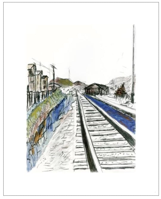 Bob Dylan, Train Tracks (white), 2010