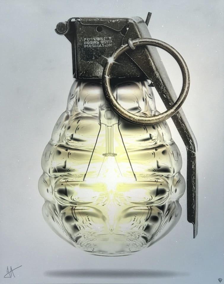 JJ Adams, Mind Grenade - Original - CALL FOR PRICE