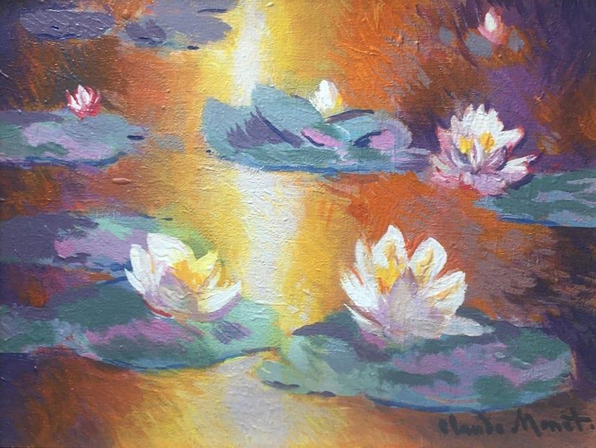 John Myatt, Waterlillies 1905 - Original