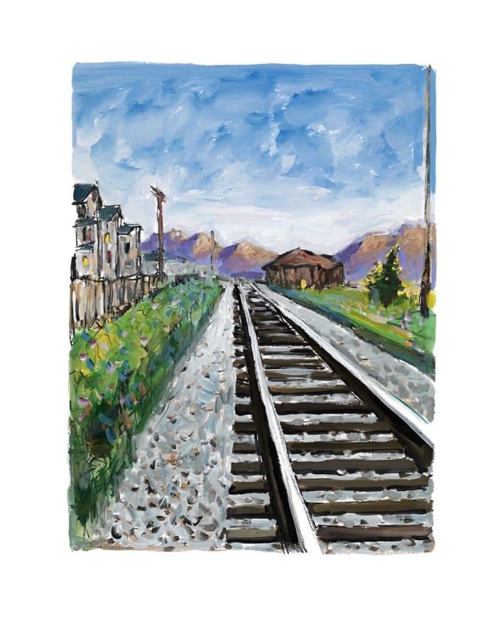 Bob Dylan, Train Tracks (set of 4), 2018
