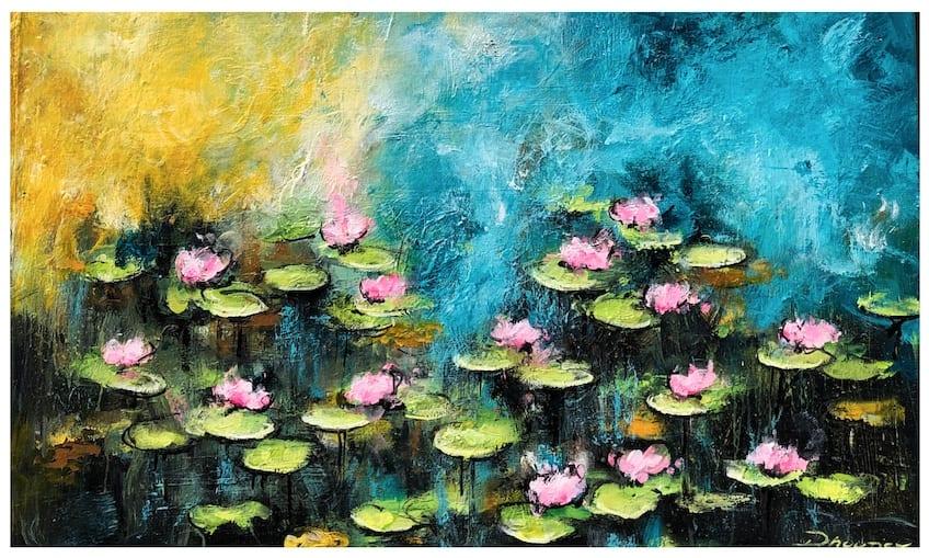 Daniel Hooper, Water Lilies (40x24in), 2020