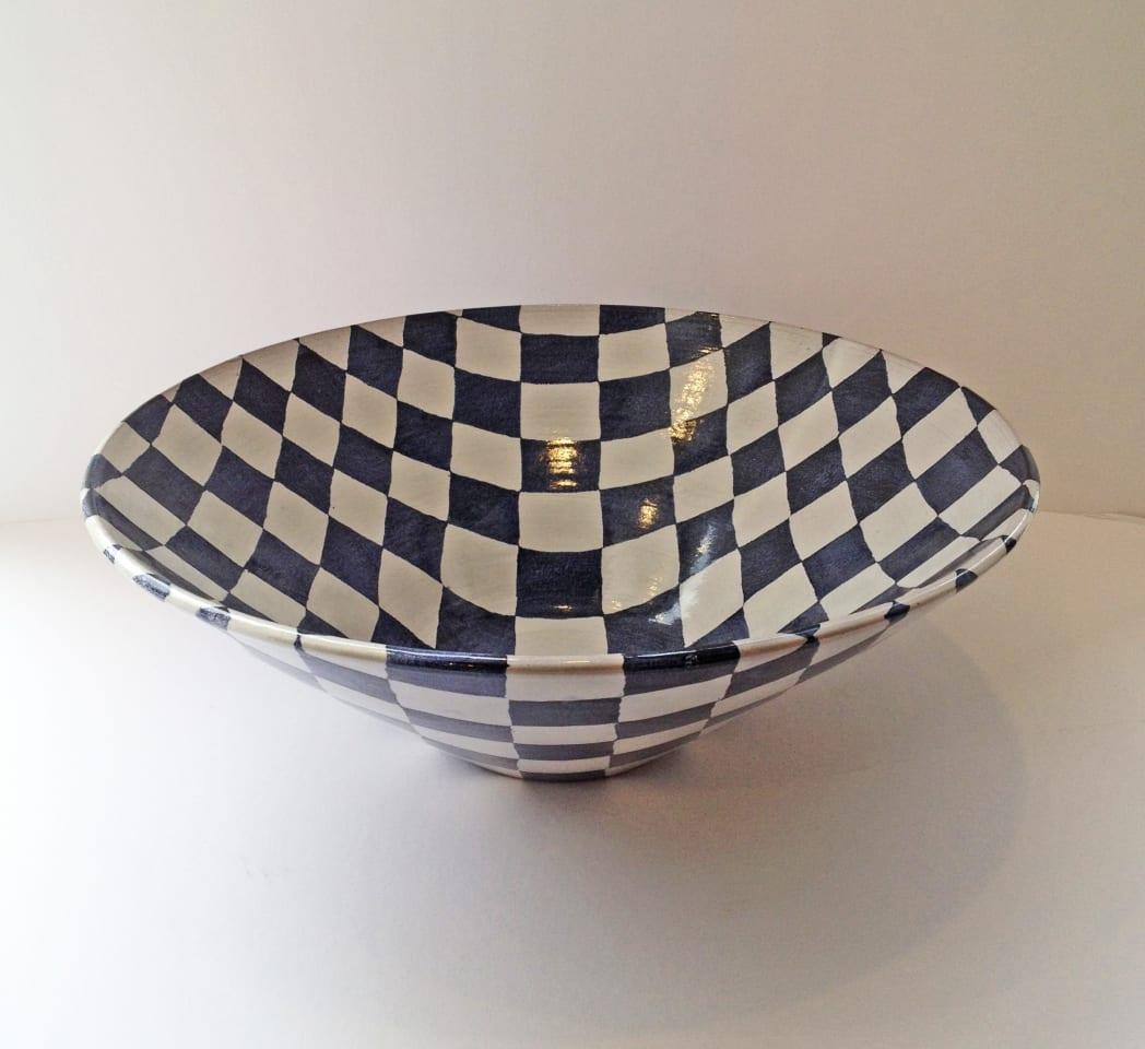 Tydd Pottery, Bowl - Checkerboard , 2019