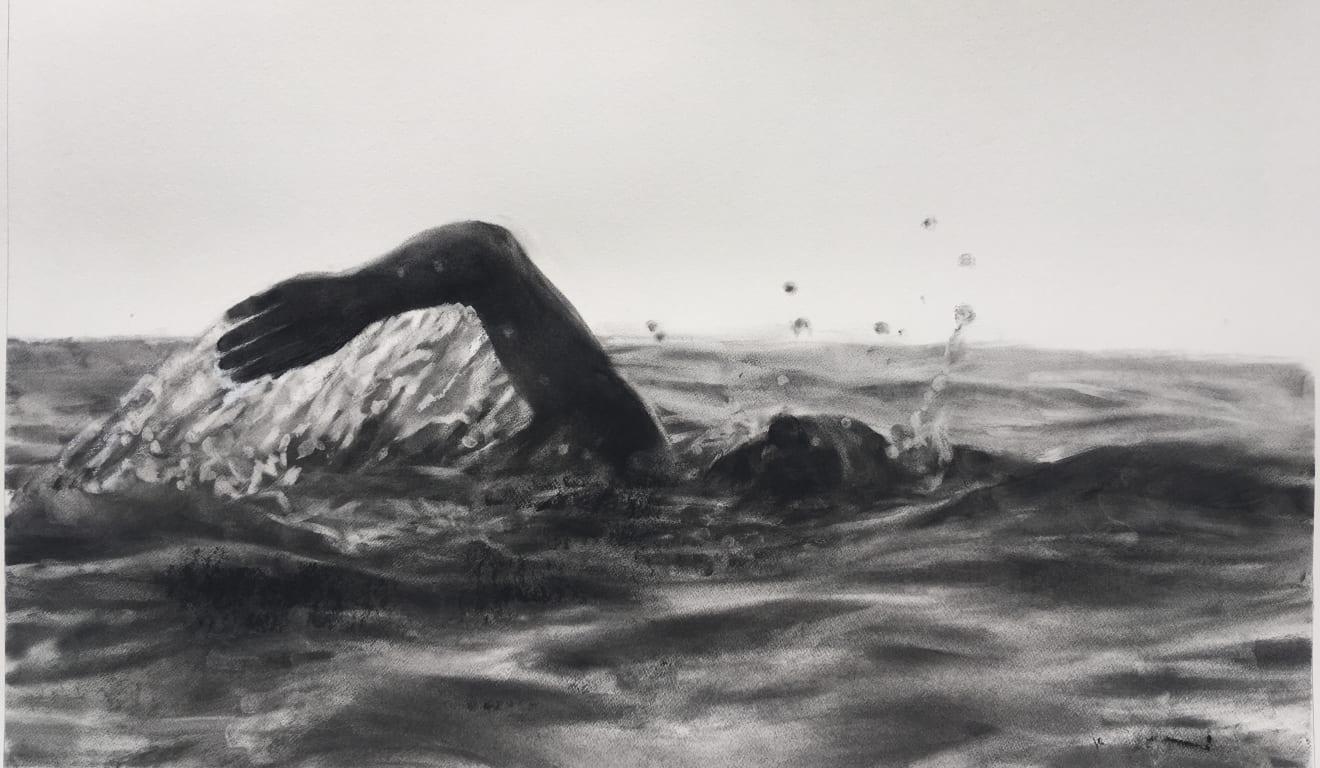 Patsy McArthur, Lone Swimmer - Sunrise, 2020