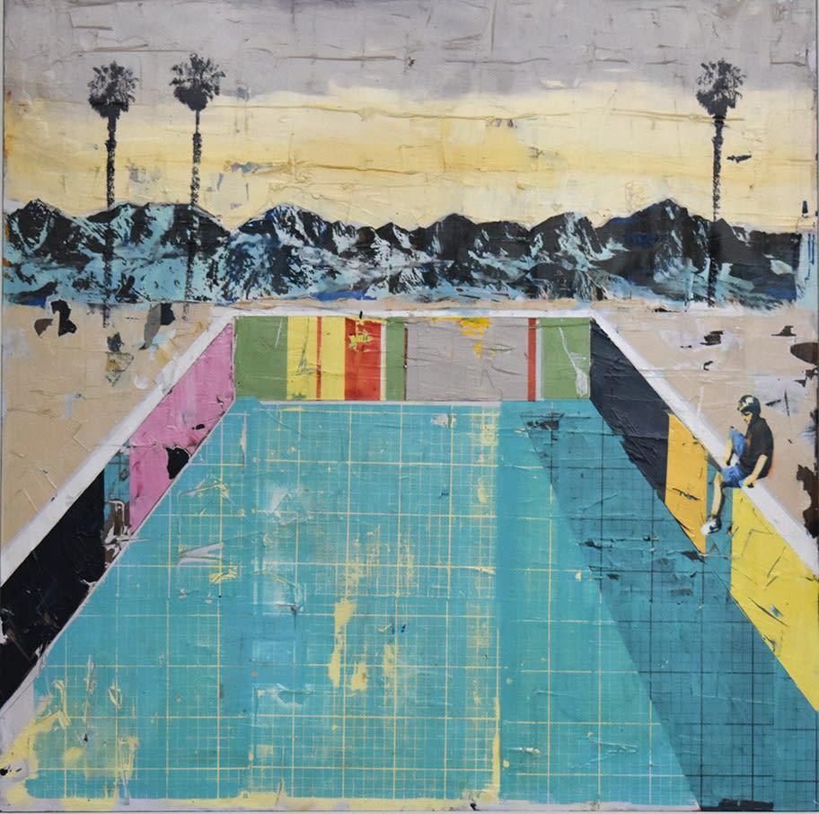 Dan Parry-Jones, Boy By A Pool With Palms, 2020