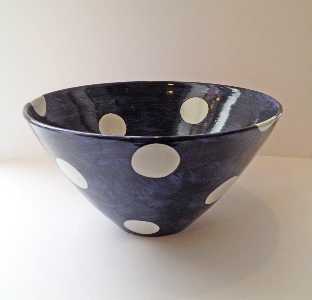 Tydd Pottery, Bowl - Large Spots, 2019