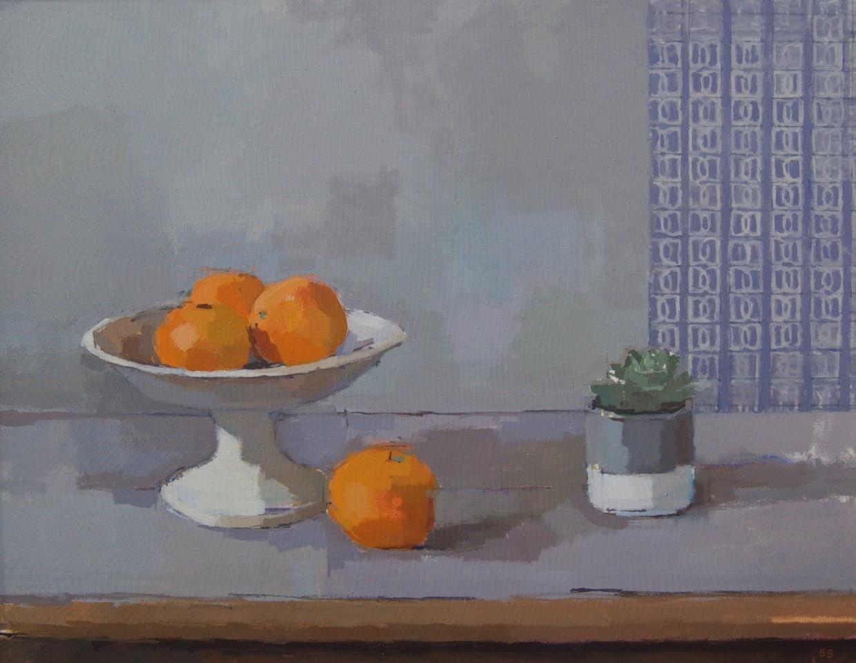 Sarah Spackman, Orange With Blue Harebell