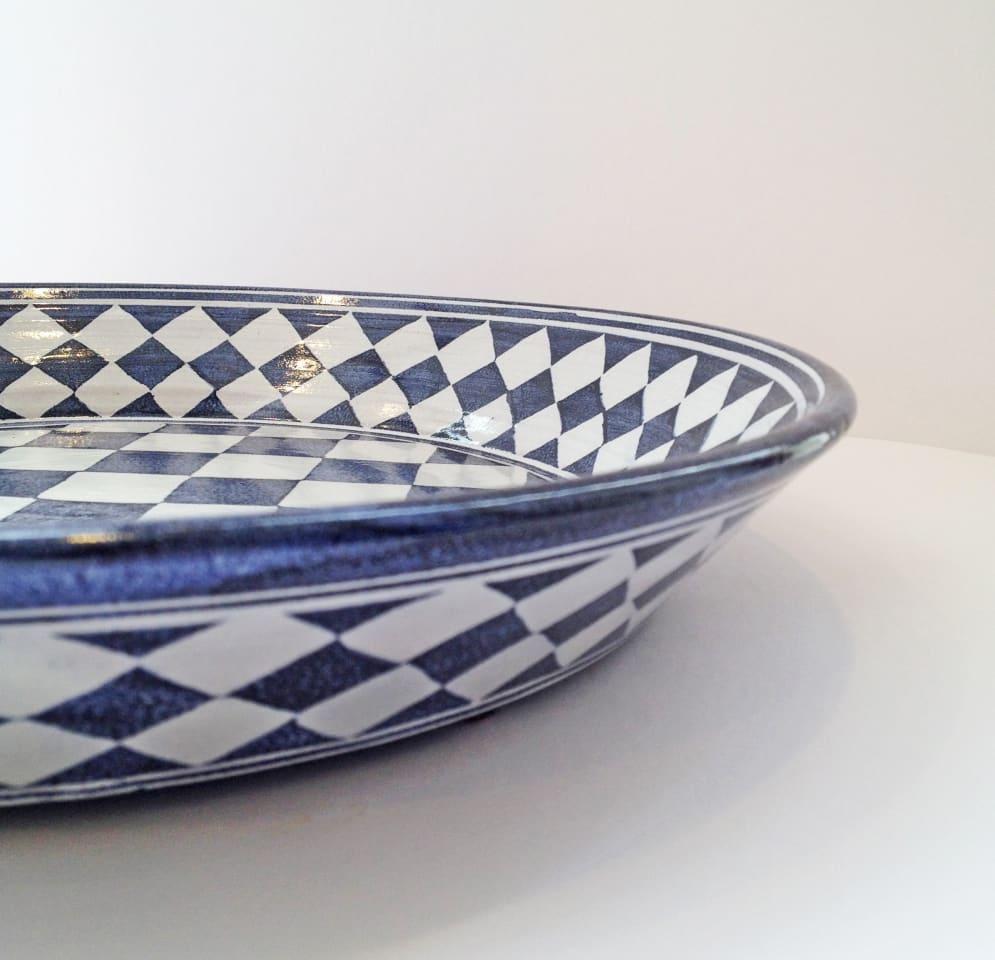 Tydd Pottery, Platter - Large Checkerboard , 2019