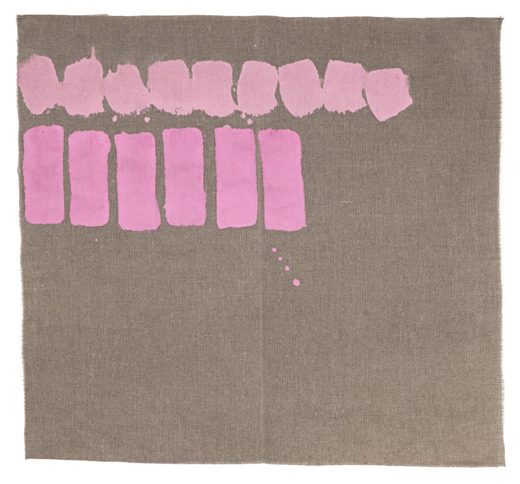 Giorgio Griffa, Due colori, 1977