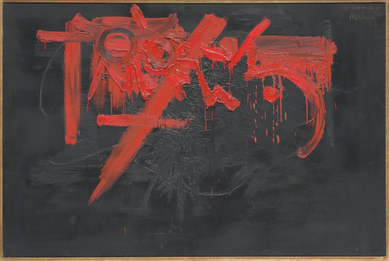 Georges Mathieu, Nuit de sang, 1952