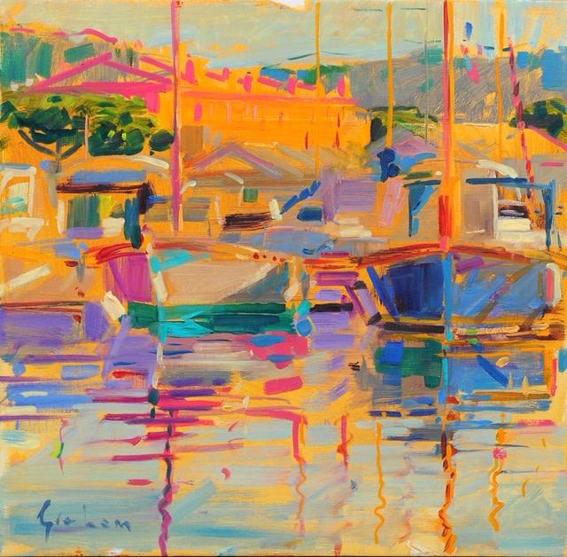 Peter Graham ROI, Evening Light, Saint-Tropez