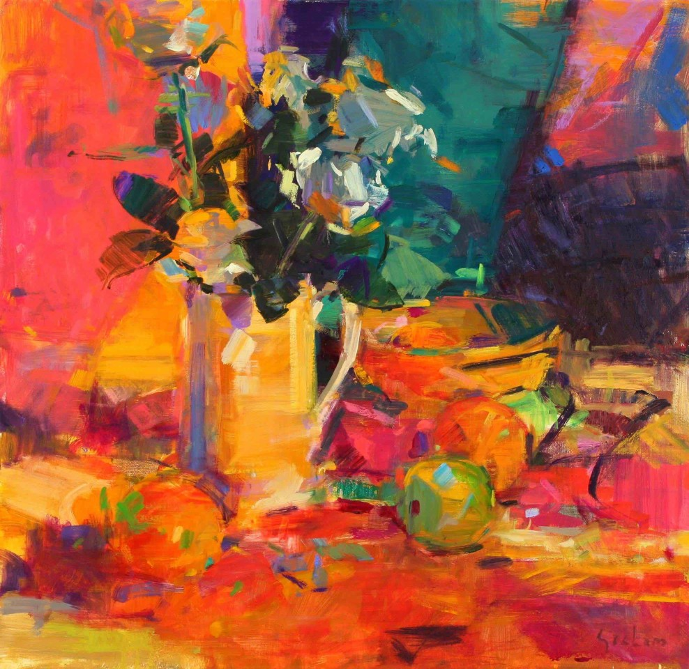 Peter Graham ROI, Bouquet with Fruits
