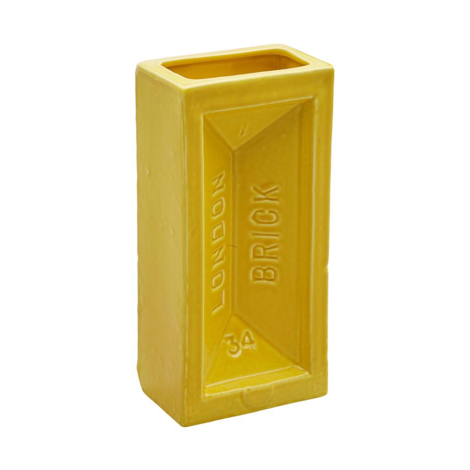 Stolen Form, Brick Vase - Yellow, 2017