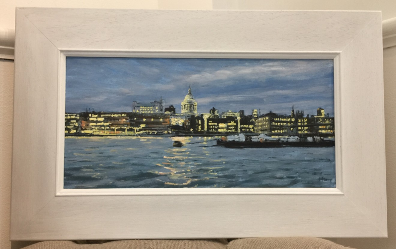 Ben Hughes, Towards St Paul's Cathedral, Early Evening
