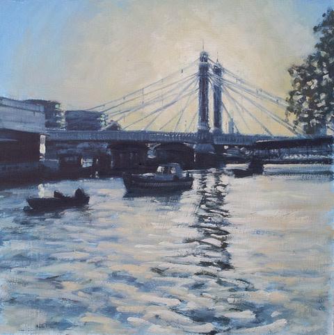Ben Hughes, Albert Bridge, Late Afternoon
