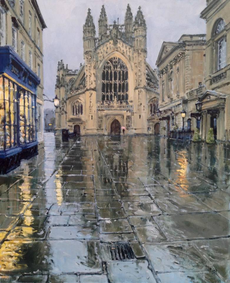 Ben Hughes, Bath Abbey in the Rain