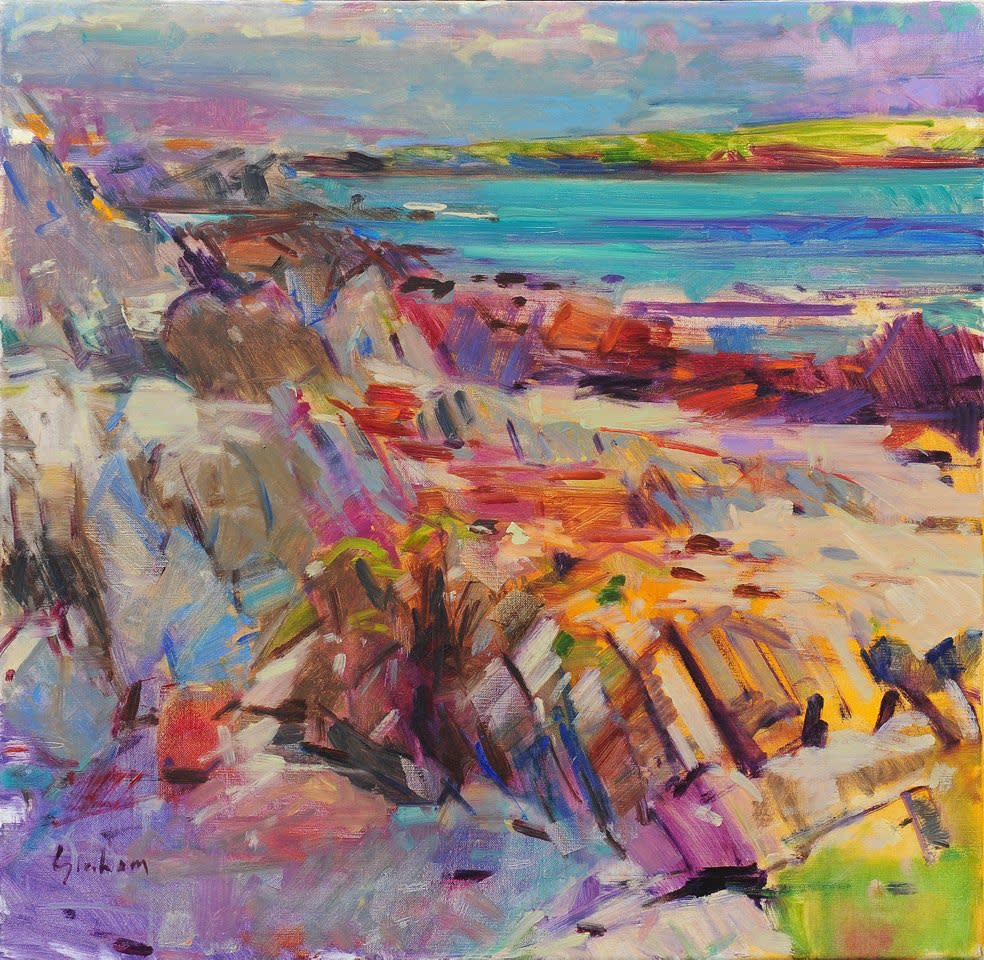 Peter Graham ROI, Iona View to Little Colonsay