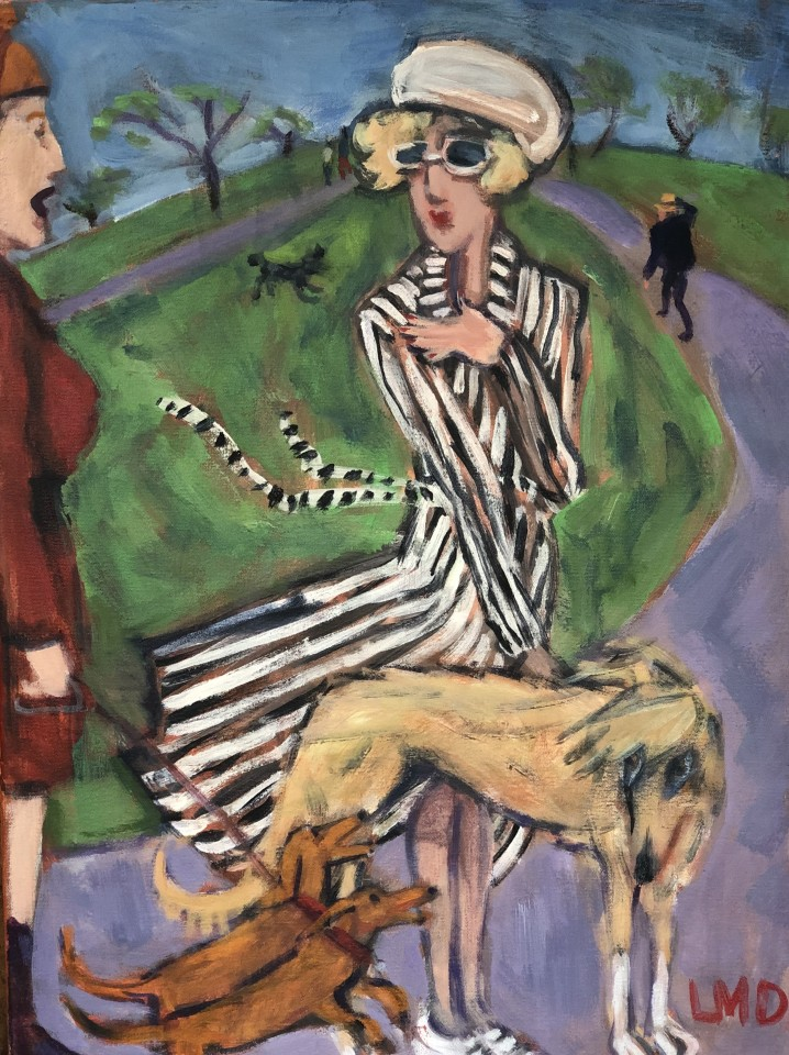 Lucy Dickens, Windy Day, Primrose Hill