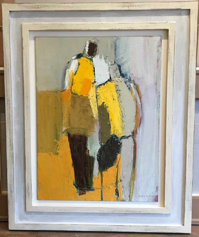 Dafila Scott, Two Figures on Yellow (London Gallery)