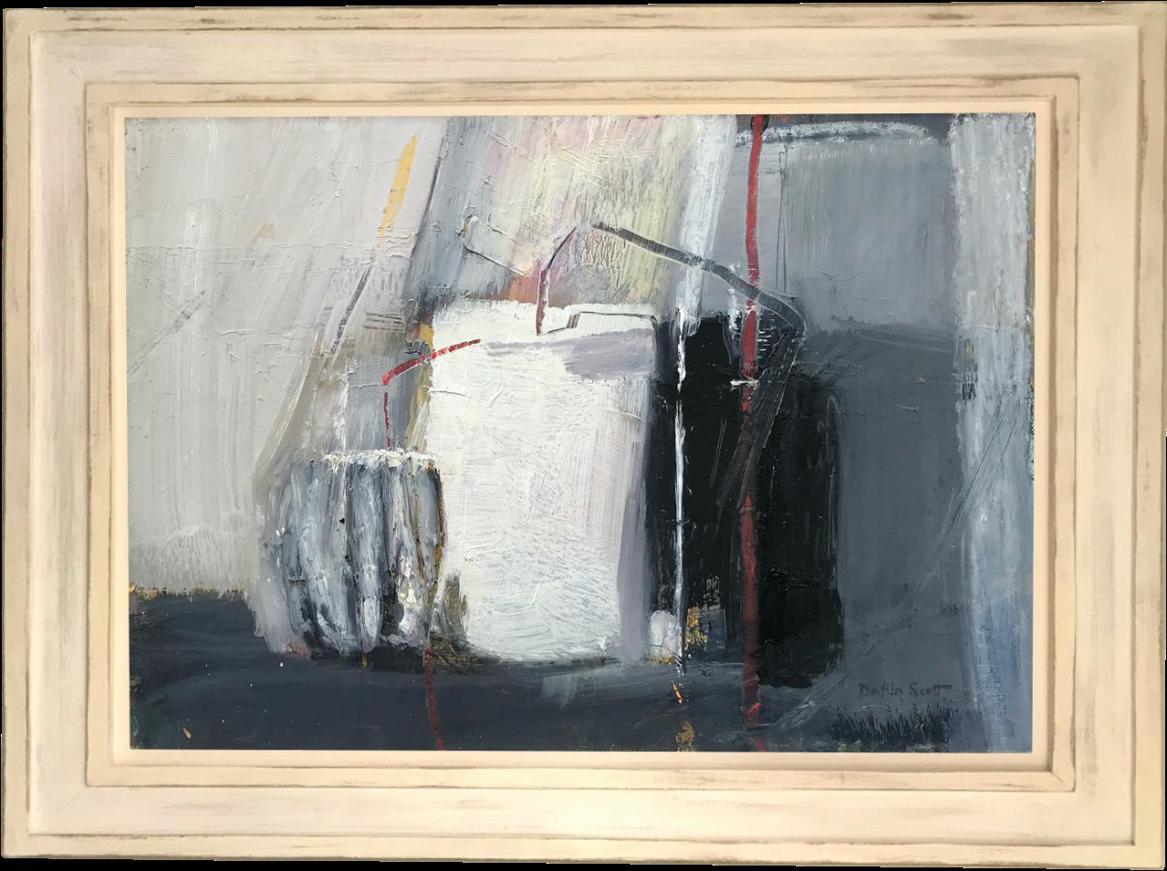 Dafila Scott, Still LIfe With Striped Pot (London Gallery)