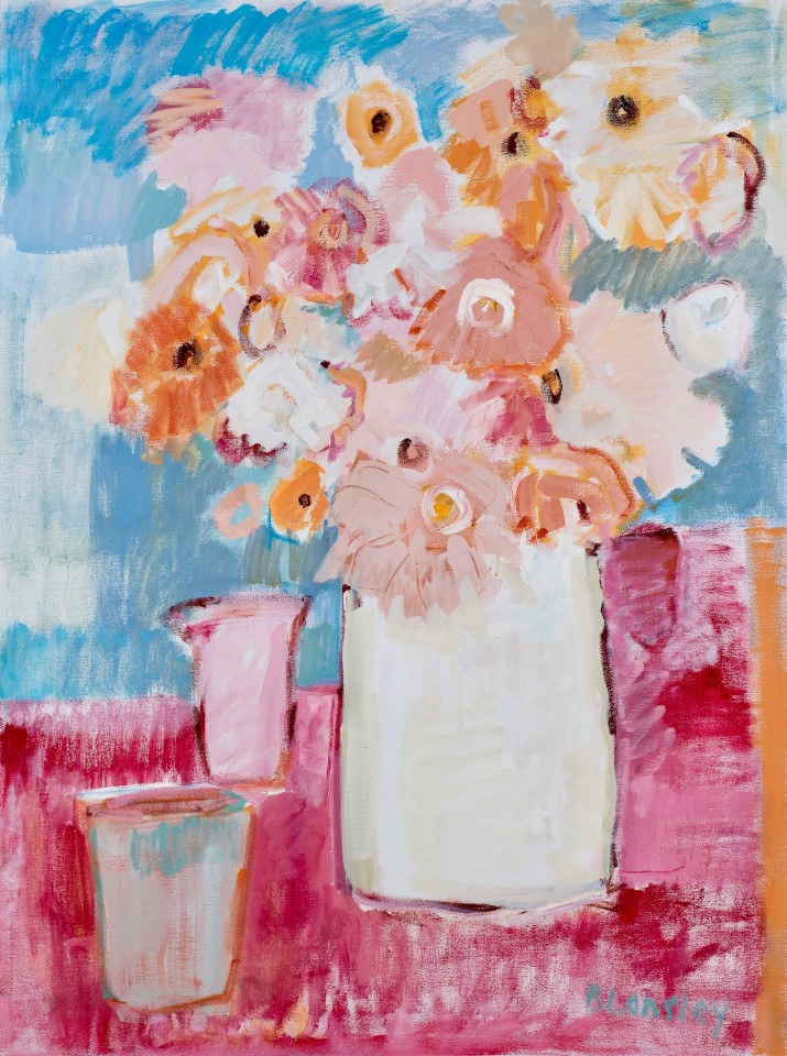 Bridget Lansley, Shades of Pink (Hungerford Gallery)
