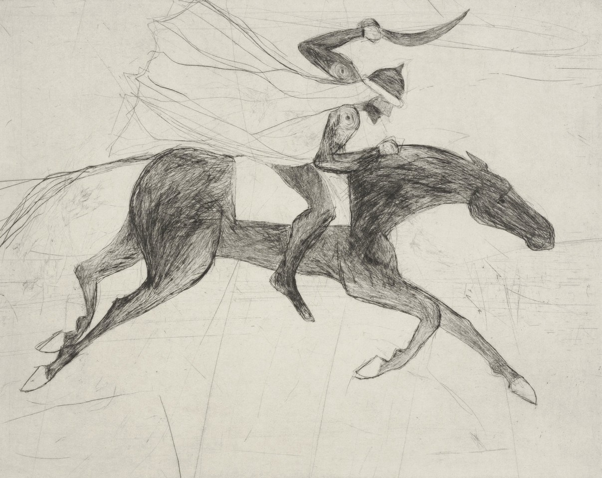 Kate Boxer, Saladin (Mounted)