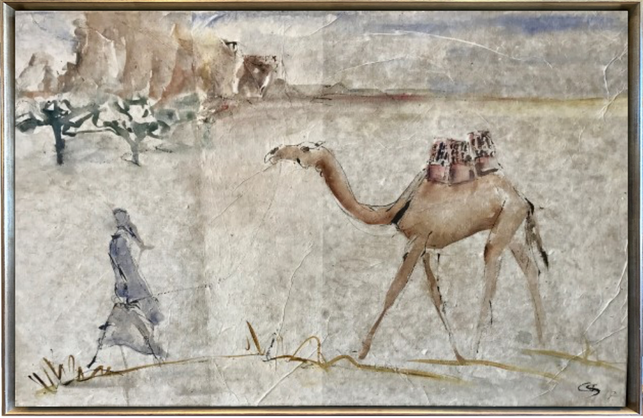 Christine Seifert, Leading Camel (Hungerford Gallery)