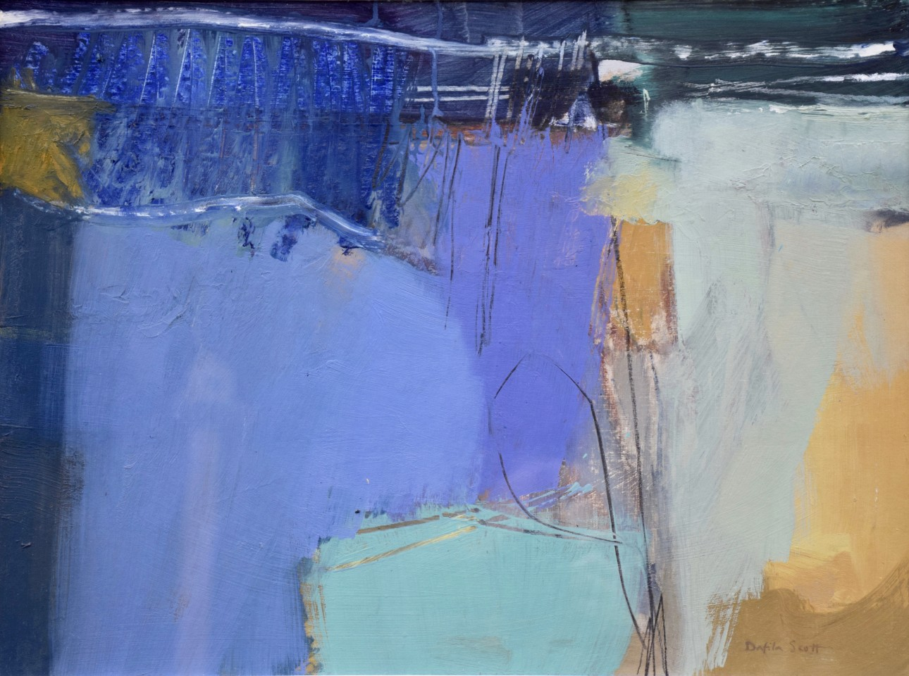 Dafila Scott, Twilight moves across the Land (London Gallery)
